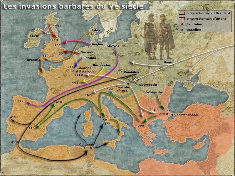 Chute de l 39 empire - Le grill des barbares ...